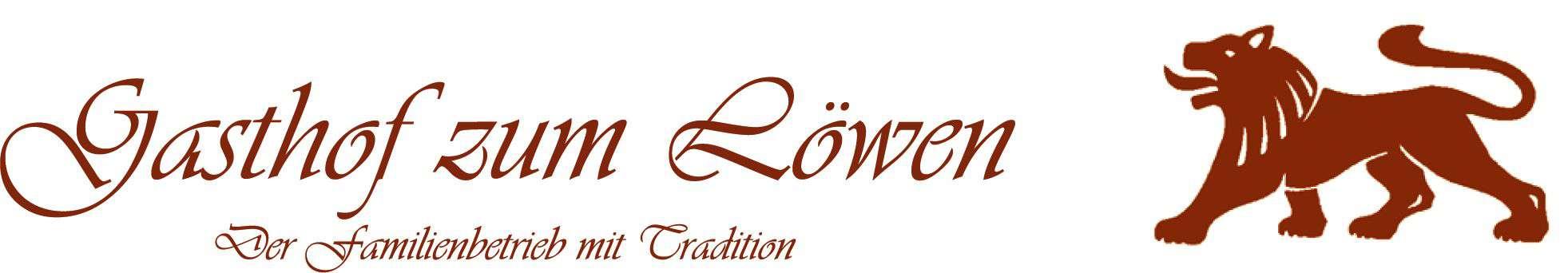 Logo des Gasthof zum Löwen mit Schriftzug