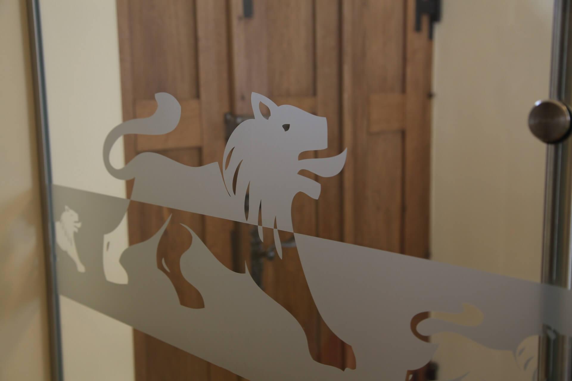 Eingang mit Löwen zum Gasthof zum Löwen